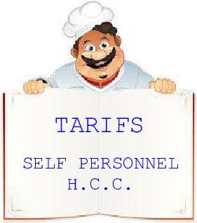 Restaurant du personnel – Tarifs prestations à compter du 01.09.2020